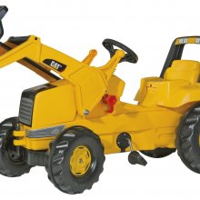 TRATTORE A PEDALI CAT BACKHOE-LOADER ROLLY TOYS
