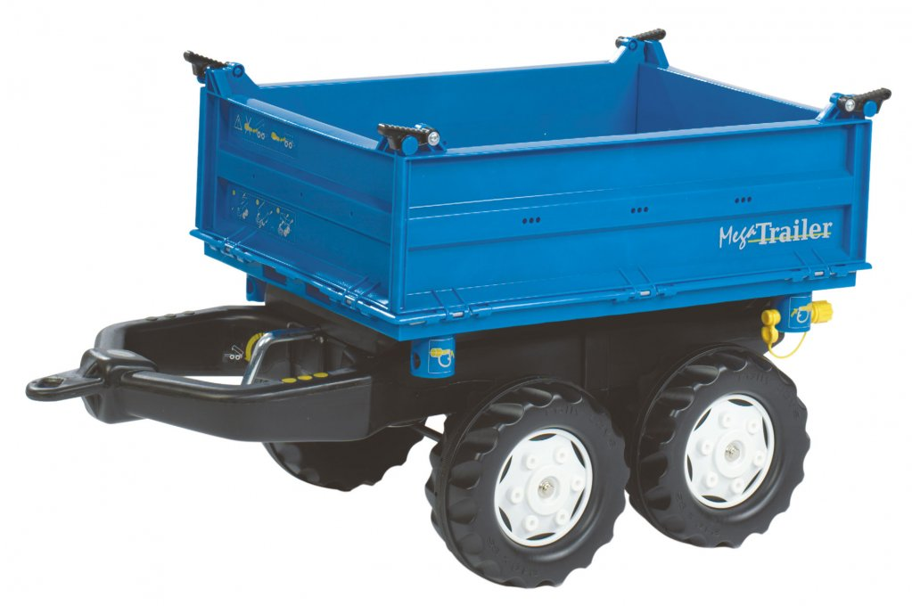 RIMORCHIO MEGA TRAILER BLU ROLLY TOYS