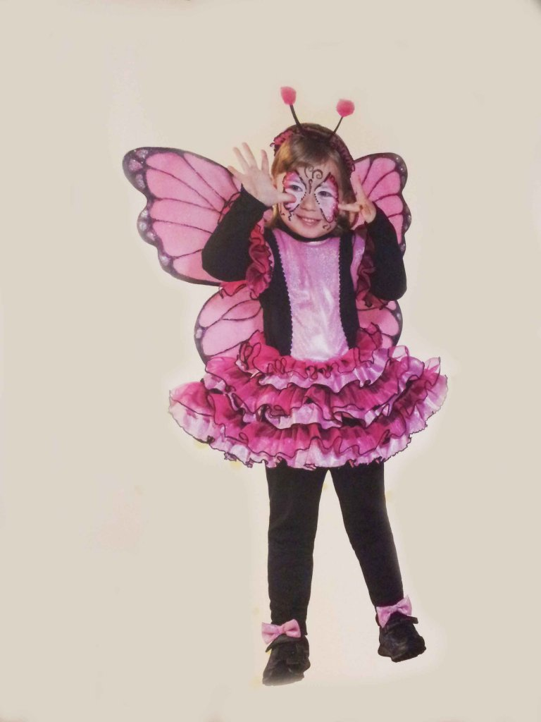 COSTUME CARNEVALE BABY LADY BATTERFLAY 2/3 FANCY MAGIC
